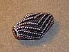 Плетеная из бисера бусина с уголками