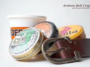 Уход за кожаным ремнем / Leather Belt Care | Ярмарка Мастеров - ручная работа, handmade