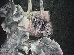 Делаем валяную сумку с элементами нунофелтинга. Ярмарка Мастеров - ручная работа, handmade.