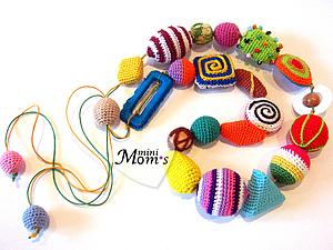 Авторская игрушка. Развивающие Бусы (0m+) | Ярмарка Мастеров - ручная работа, handmade