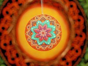 Создаем яркую мандалу из фетра. Ярмарка Мастеров - ручная работа, handmade.