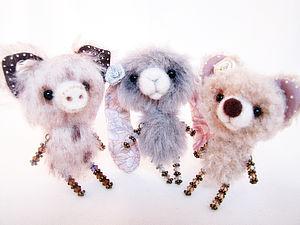 Милая мишкоброшка для души! | Ярмарка Мастеров - ручная работа, handmade