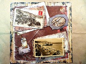 Скрапбукинг: изготовление открыток или страницы из фотоальбома. | Ярмарка Мастеров - ручная работа, handmade