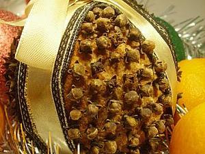 Рождественский помандер | Ярмарка Мастеров - ручная работа, handmade