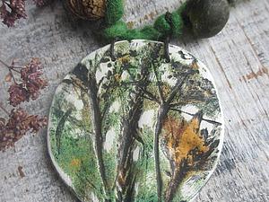 Тонируем кулон из полимерной глины с помощью низкотемпературной эмали. Ярмарка Мастеров - ручная работа, handmade.