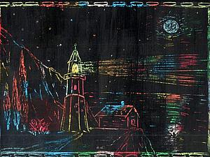 Создаем вместе с детьми картины в необычной технике «граттаж» | Ярмарка Мастеров - ручная работа, handmade