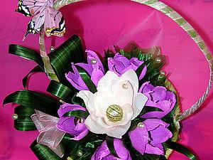 МК по созданию цветочной композиции из конфет. | Ярмарка Мастеров - ручная работа, handmade