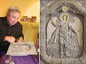 Иконопись льняными нитями. | Ярмарка Мастеров - ручная работа, handmade