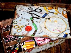 Короб для рукодельницы | Ярмарка Мастеров - ручная работа, handmade
