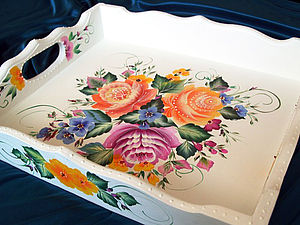 Тагильская роза ( двойной мазок) | Ярмарка Мастеров - ручная работа, handmade