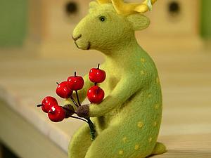Зеленый весенний олень участвует в конкурсе