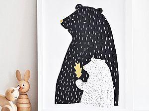 Новый тренд в декоре квартиры: черно-белая графика | Ярмарка Мастеров - ручная работа, handmade