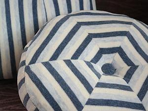 Полосатые подушки из пижамы. Ярмарка Мастеров - ручная работа, handmade.