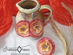 Первые шаги в полимерной глине: лепим летний комплект — серьги и кольцо. Ярмарка Мастеров - ручная работа, handmade.