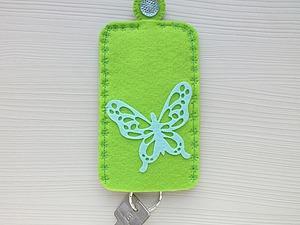 Шьём женскую карманную ключницу из фетра | Ярмарка Мастеров - ручная работа, handmade