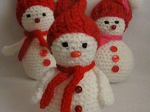мастер класс Снеговик | Ярмарка Мастеров - ручная работа, handmade
