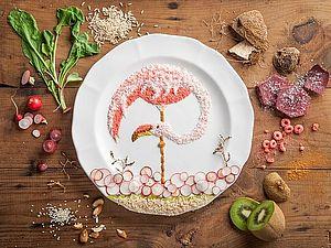 Утонченные рисунки из еды в память о попугайчике | Ярмарка Мастеров - ручная работа, handmade