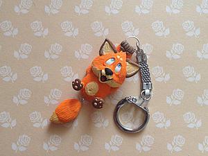 Делаем забавный брелок: лепим лисёнка с болтающимся хвостиком. Ярмарка Мастеров - ручная работа, handmade.