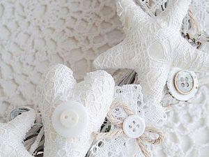 Делаем интерьерный венок со звездами в шебби-стиле | Ярмарка Мастеров - ручная работа, handmade
