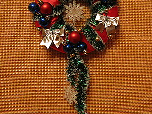Новогодний веночек | Ярмарка Мастеров - ручная работа, handmade