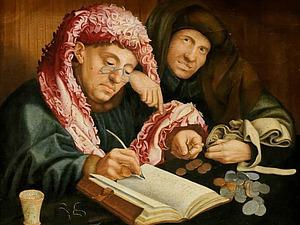 Шедевры мировой живописи. Маринус ван Реймерсвале и Квентин Массейс. Две картины. Ярмарка Мастеров - ручная работа, handmade.