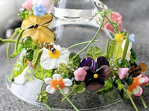 Браслет луговые цветы | Ярмарка Мастеров - ручная работа, handmade