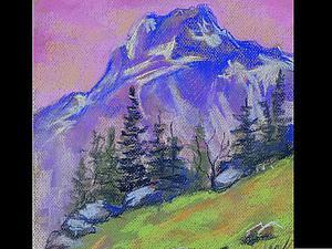 Видео мастер-класс для начинающих: рисуем горы пастелью. Ярмарка Мастеров - ручная работа, handmade.
