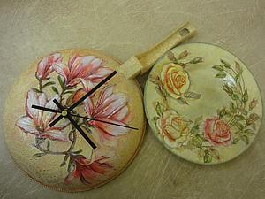Часы на Сковородке   Ярмарка Мастеров - ручная работа, handmade