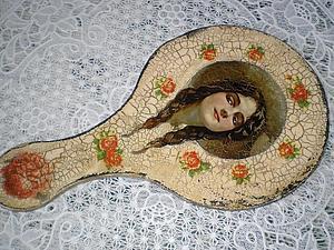 Аукцион на большое ручное зеркало | Ярмарка Мастеров - ручная работа, handmade
