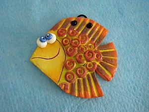 Рыбка из теста соленого своими руками