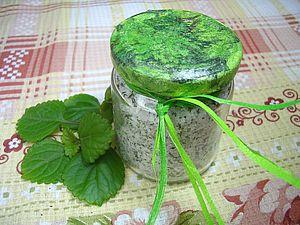 Мятная соль для ножных ванн. Ярмарка Мастеров - ручная работа, handmade.