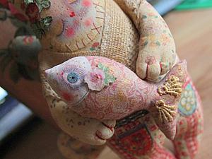 Мастер-класс:  Запекаемая, расписная кукла. Влюбленный кот. | Ярмарка Мастеров - ручная работа, handmade