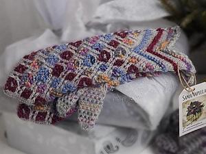 Варежки узорные,вязаные шевроном | Ярмарка Мастеров - ручная работа, handmade