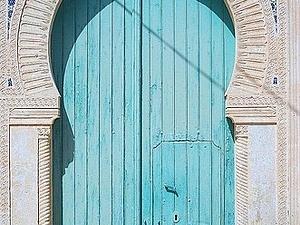 Бирюзовые двери | Ярмарка Мастеров - ручная работа, handmade