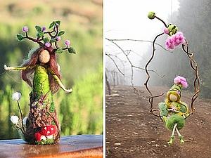 Маленькие войлочные феи | Ярмарка Мастеров - ручная работа, handmade