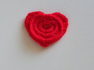 Мастер-класс как связать сердце-роза крючком | Ярмарка Мастеров - ручная работа, handmade