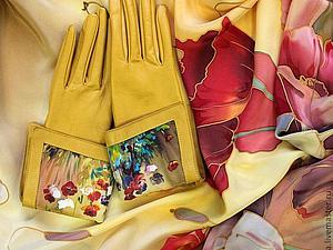 Цветная кожа на перчатки и комплекты аксессуаров | Ярмарка Мастеров - ручная работа, handmade