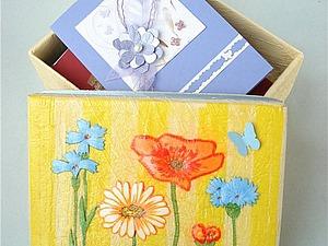Мастер класс:  «Card-box или В чем хранить открытки?». Ярмарка Мастеров - ручная работа, handmade.