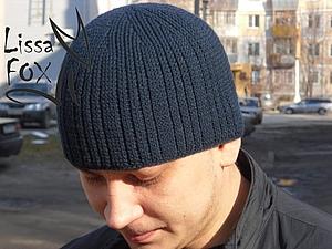 Мужская шапка-резинка крючком | Ярмарка Мастеров - ручная работа, handmade