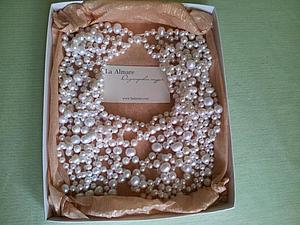 Принимаю заказы на свадебные и вечерние колье из жемчуга и натуральных камней. | Ярмарка Мастеров - ручная работа, handmade