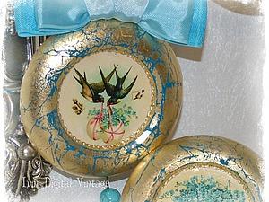 Декорируем к Пасхе яркие интерьерные подвески в технике декупаж и золочение. Ярмарка Мастеров - ручная работа, handmade.