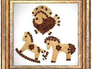 Кофейные лошадки (магнит на холодильник) | Ярмарка Мастеров - ручная работа, handmade