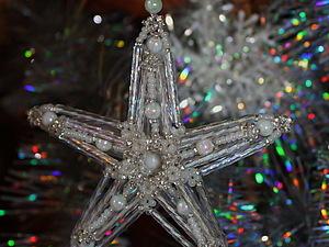 Новогодняя звезда | Ярмарка Мастеров - ручная работа, handmade