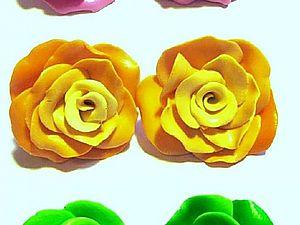Лепим розу из полимерной глины. Ярмарка Мастеров - ручная работа, handmade.