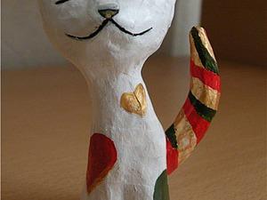 Делаем кошечку из папье-маше. Ярмарка Мастеров - ручная работа, handmade.