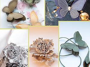 мастер-класс по цветам, обучение цветоделию, цветы из кожи, елена бадреева