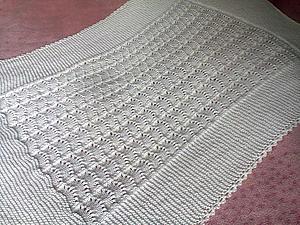 Вяжем детский плед от Drops — адаптация для тонкой пряжи | Ярмарка Мастеров - ручная работа, handmade