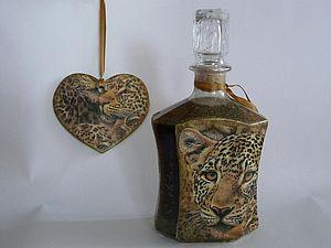 Декупаж на стекле. Декорируем бутылки | Ярмарка Мастеров - ручная работа, handmade