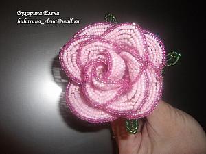 Плетение розы из чешского бисера. Ярмарка Мастеров - ручная работа, handmade.