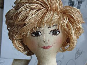 Причёска для текстильной куклы. | Ярмарка Мастеров - ручная работа, handmade